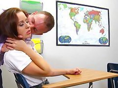 teacher helps her student to change her mood